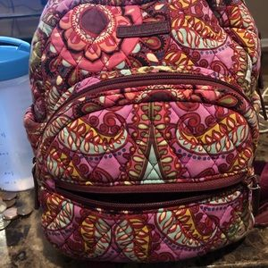 Vera Bradley backpack purse with matching wallet